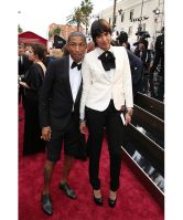 Pharrell Williams and Helen Lasichanh - 2014 Academy Awards