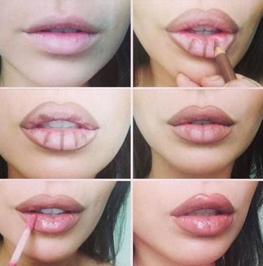 Trucos para conseguir unos labios más gruesos