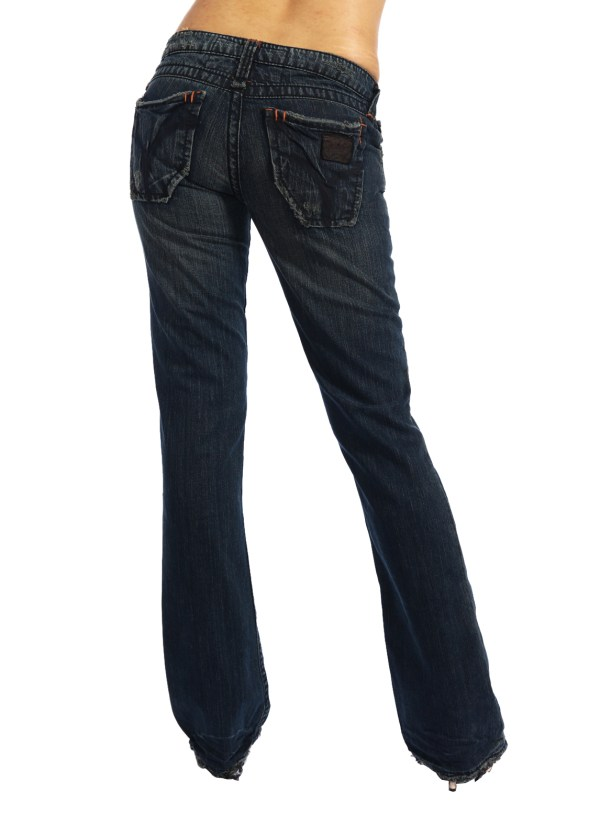 Rise Classic Boot Cut Jeans Women' Sexy Flared Denim Trousers Stretch Pants