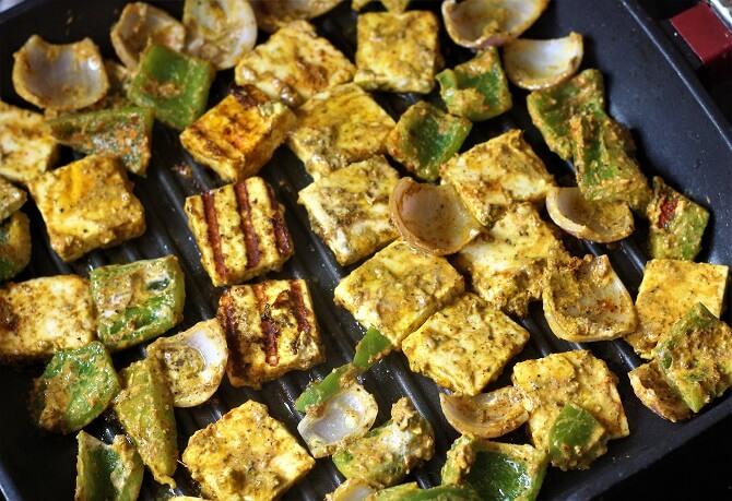 flipping tandoori paneer tikka recipe