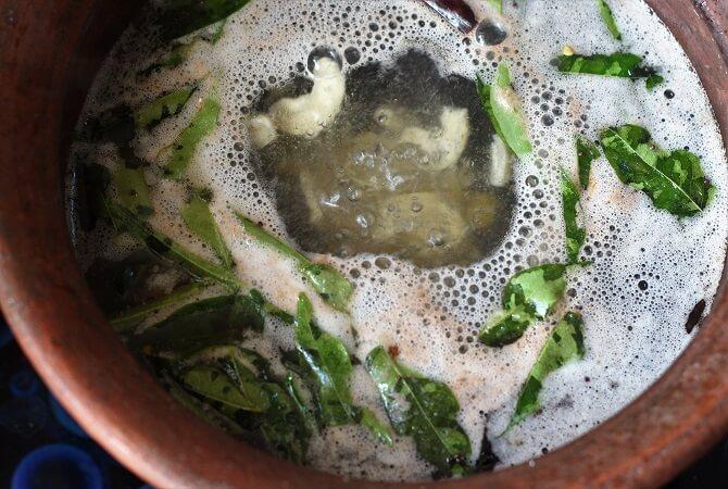 water boiling for adding rava upma recipe