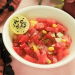 Cucumber and Watermelon Salad with Corn