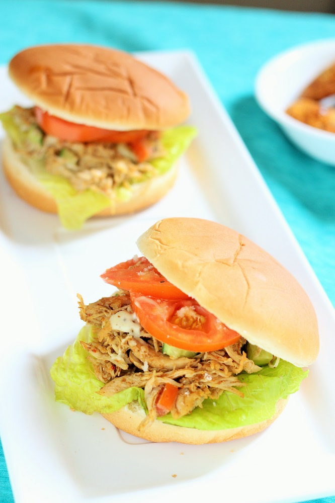 Indian Spiced Shredded Chicken Salad Sandwich recipe