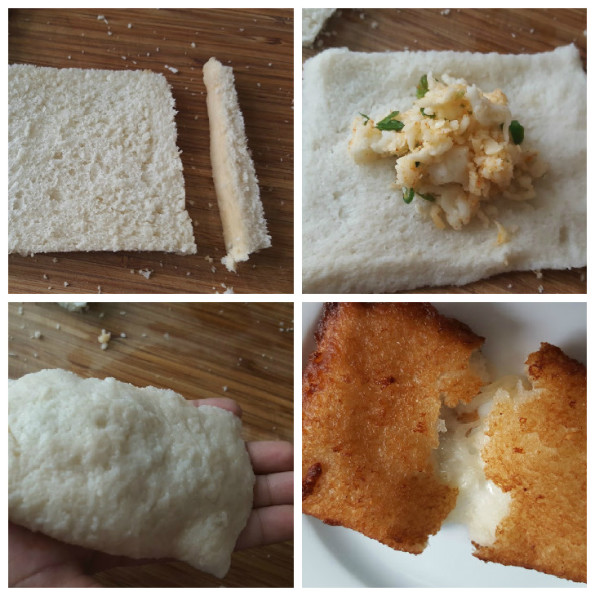 bread roll collage