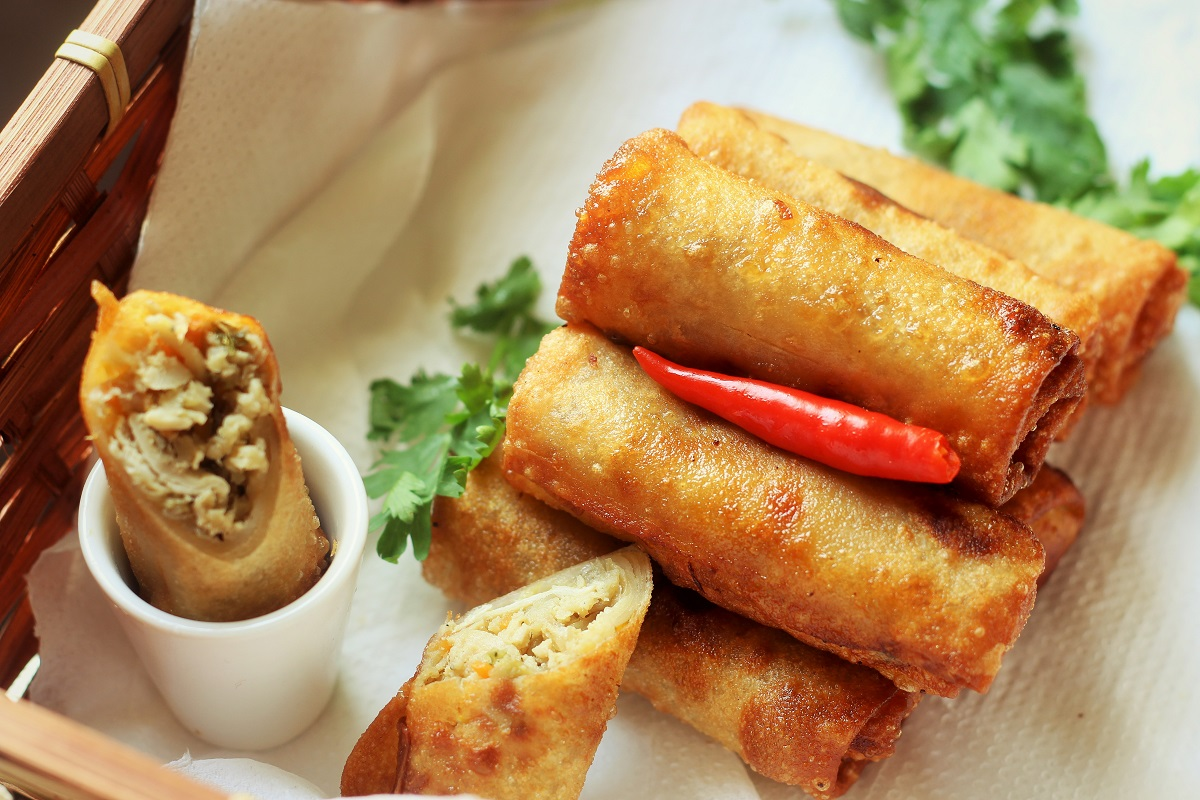 Chicken Spring Roll Recipe How To Make Chicken Spring Roll Recipe