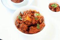 chicken chukka recipe in white bowl