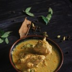 A very flavorful and delicious kerala style chicken curry made with warm aromatic spices and coconut milk.