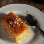Kunafa Recipe-Knafeh Recipe with Kataifi- A very popular Arabic/Middle Eastern dessert made with the kataifi dough and milk pudding #kunafa #arabicrecipes #middleeasternrecipes #halaalrecipes #faskitchen #desserts