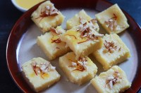 Simple Milk Powder Burfi Recipe - A very simple and easy dessert recipe made in a jiffy with the milk powder.