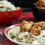 Pepper Chicken Dry recipe, Andhra Style, Peas Garlic Fried Rice