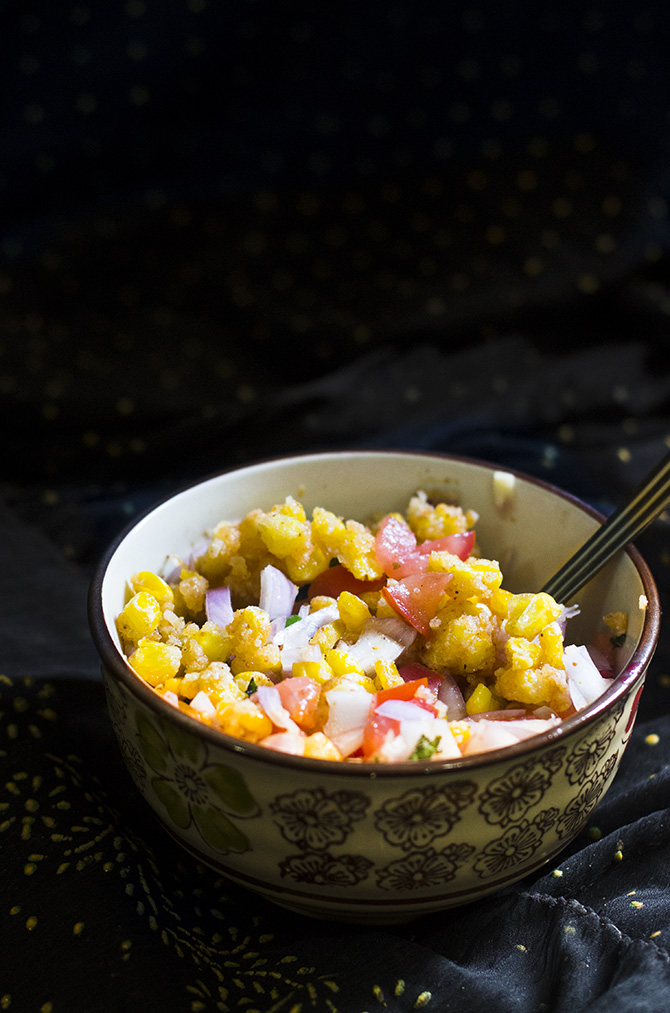 Corn Chaat Recipe is the most delicious and most easiest snack that you will ever make. Made with Indian spices, this crispy and spicy fried corn chaat recipe is truly a delight.