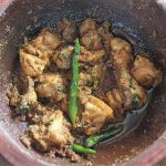 top view of chicken karahi