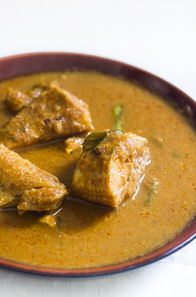 Fish Curry, Village Style is delicious and traditional nattu meen kulambu. Made with aromatic spices and fresh ingredients, this recipe surely a fish lover's delight.