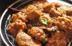 close up view of mutton handi recipe