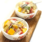Fruit cream recipe is a very simple dessert that gets ready in no time at all.