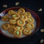 kesar peda recipe with pista in a plate