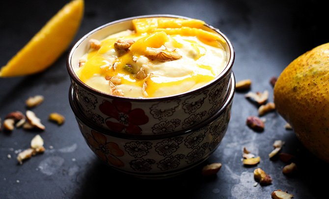 Mango Shrikhand or amrakhand recipe is a delicious dessert made with yogurt and mango. You must have all heard about the popular shrikhand. This is a great twist to it. Adding the mango to the shrikhand takes it to altogether another level.