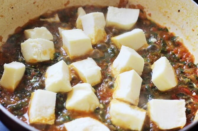 paneer in methi gravy
