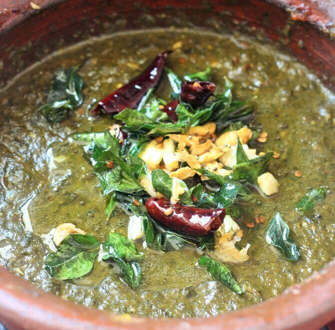 adding tadka to the gongura (1)