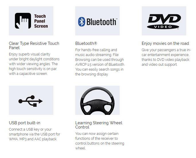 """Pioneer AVH-295BT 6.2"""" Bluetooth Double DIN DVD USB Car AV"""
