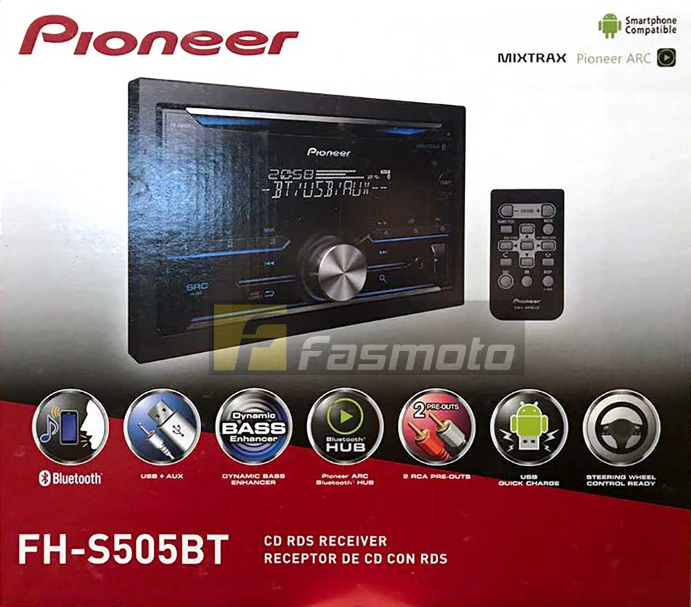 Pioneer FH-S505BT Double DIN Bluetooth CD USB Aux-in Car Radio MIXTRAX