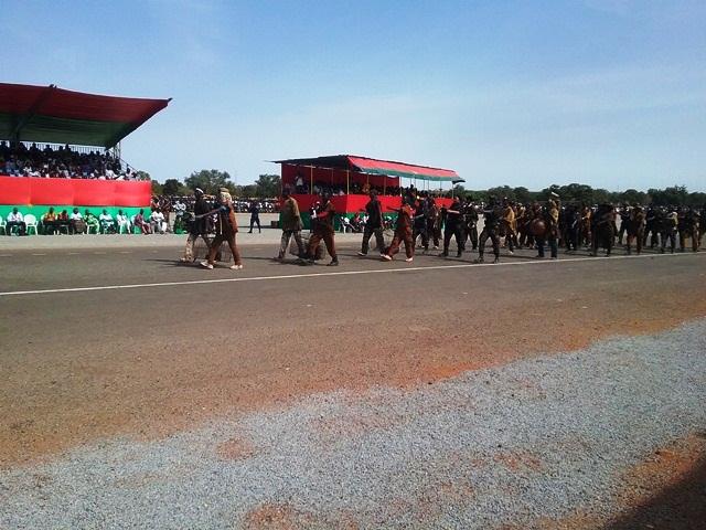 Ministère de L'Environnement de L'Economie verte et du Changement climatique(MEEVCC), défilé des Dozos