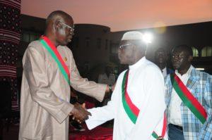 Salifou Diallo a félicité tour à tour le personnel pour les multiples sacrifices consentis