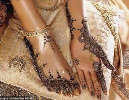Les mains décorées au henné