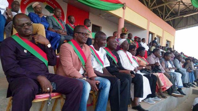 Les députés mobilisés a l'occasion de cette coupe de l'assemblée nationale