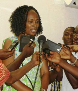 La Directrice exécutive nationale de spécials olympics madame Pikbougoum Annick