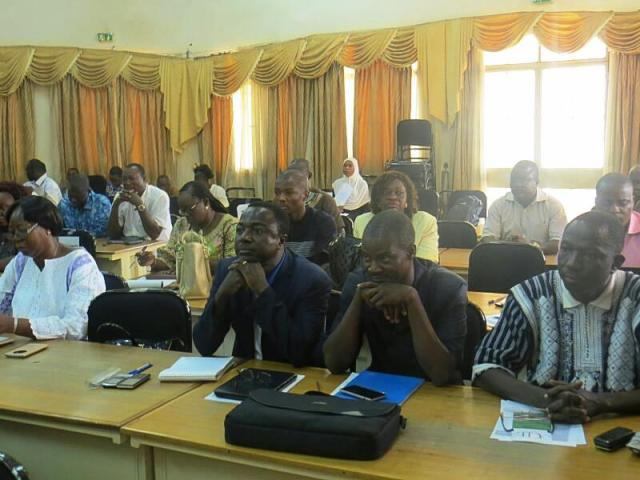 Les participants à ce séminaire de formation