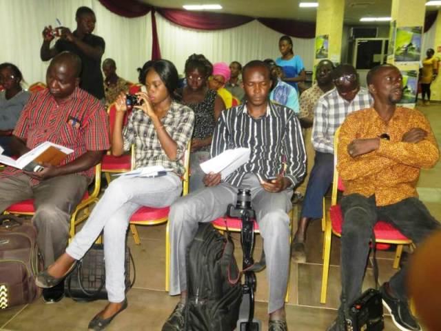 Les participants a cette conférence de presse sur la 25e edition du festival Jazz à Ouaga