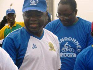 Le Ministre des sports et des loisirs M.Tahirou Bangré, à l'issue des 8km