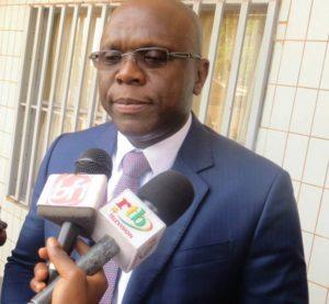 Ministre en charge de la communication Remy Fulgence Dandjinou, président de la cérémonie d'ouverture