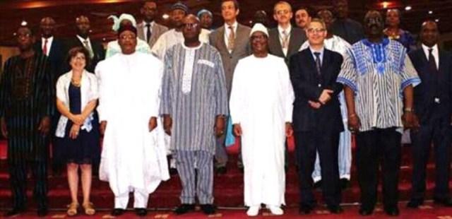 Photo de famille des Présidents Malien, Nigerien, Burkinabé et les invités a cette commémoration de la journée mondiale de lutte contre la sécheresse et la désertification