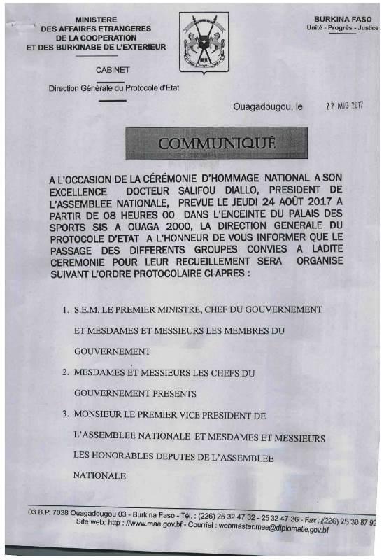 CEREMONIE OFFICIELLE.CONVOCATION CORPS CONSTITUES. OBSEQUES SALIFOU DIALLO-1