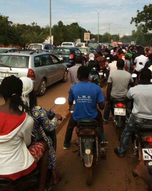 Les embouteillages prennent de l'ampleur à Ouagadougou