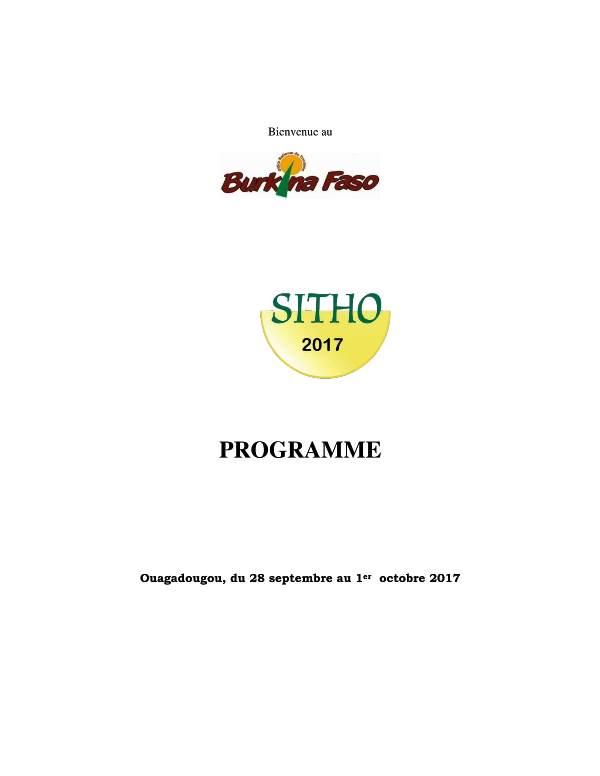 Programme indicatif du SITHO 2017-1