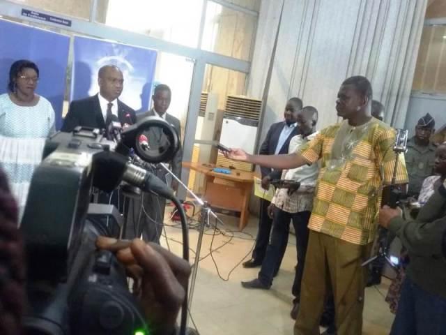 Ministre des Affaires étrangères et de la Coopération Internationale, Alpha Barry était face à la presse.