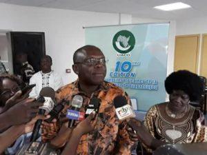 Rémy Fulgance DANDJINOU, ministre de la Communication Porte-Parole du gouvernement et Président du Comité exécutif des   UACO.