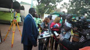 Le Directeur Général M. Belem Abdoulaye très fier de cette visite du Chef de L'Etat