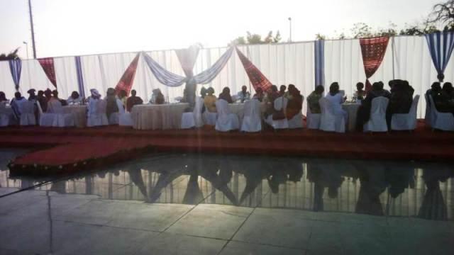 Les invités a cette cérémonie.