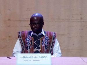 Le ministre de la Culture, des Arts et du Tourisme, Abdoul Karim Sango