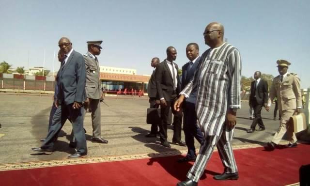 Arrivée du président Faure Gnassingbé du Faura.