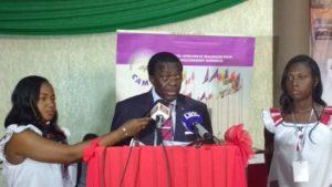 M. Maurice Aurélien Sosso,  Le représentant du ministre de l'enseignement supérieur, de la recherche du Cameroun