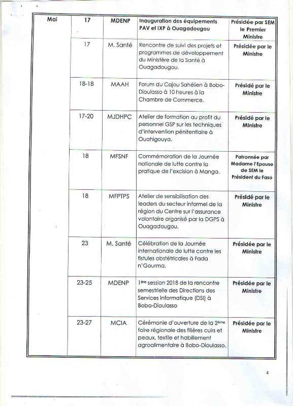 Programme d'activités 3