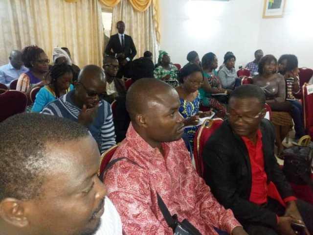 Les participants(es) a cette conférence de presse