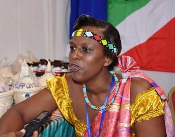 Mme Iteka Ingue, présidente de l'Association de  l'union des femmes burundaises pour la paix et le developpement (UFBPD)