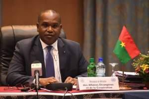 Le ministres des affaires étrangères du Burkina Alpha Barry a dirigé les travaux