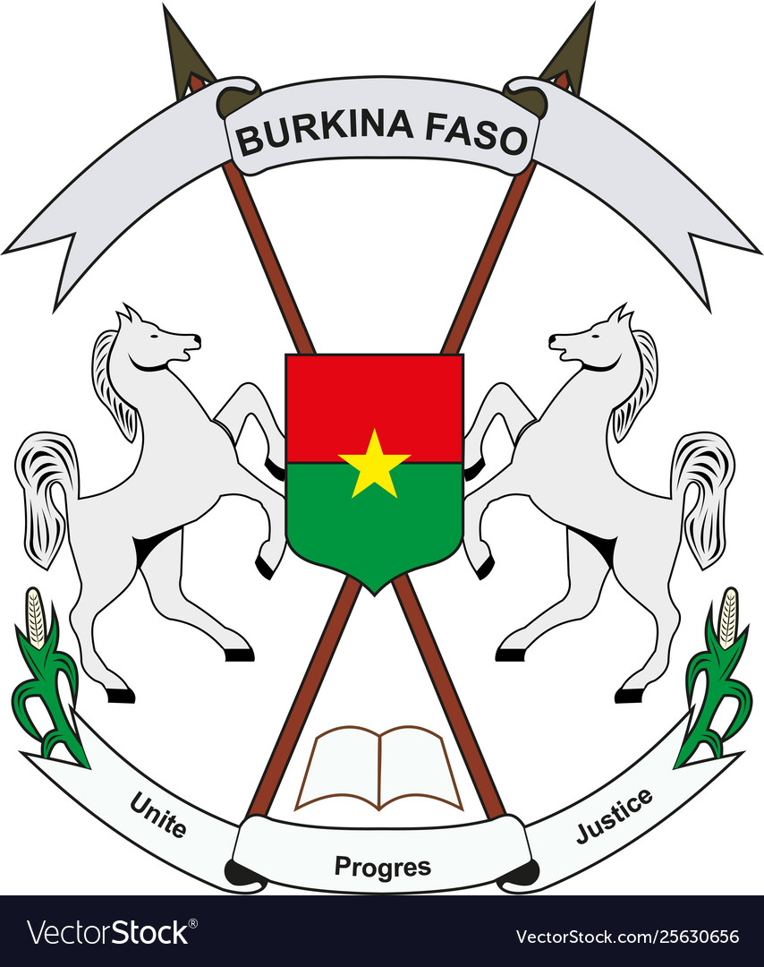 Burkina Faso National Emblem vector illustration EPS10